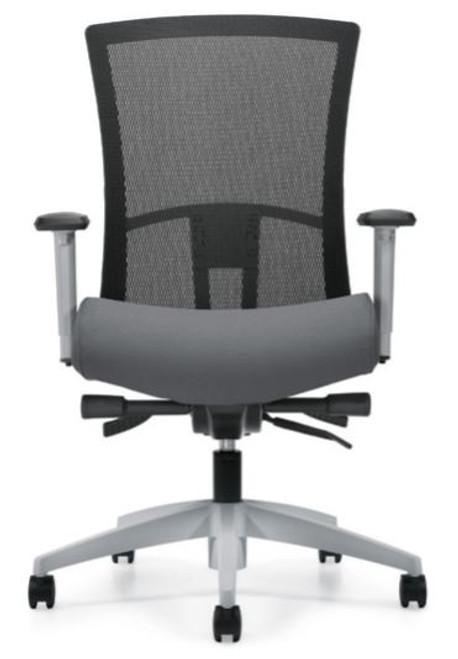 Vion Fog Frame Mesh High Back Synchro-Tilter with Back Angle Adjustment, black mesh, Fusion Graphite seat and Fog frame