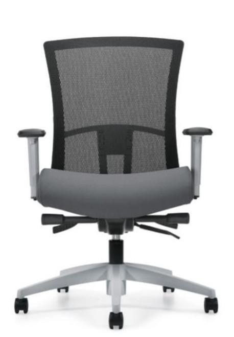 Vion Fog Frame Mesh Medium Back Synchro-Tilter with Back Angle Adjustment, black mesh, Fusion Graphite seat and Fog frame