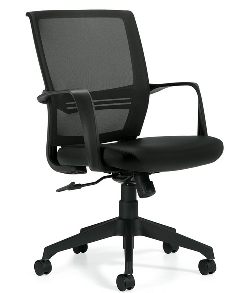Mesh Low Back Tilter with Luxhide Seat