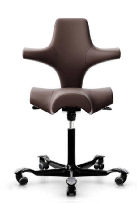 HAG Capisco H8106-2 Open Box Saddle Seat Chair in Chocolate Leather