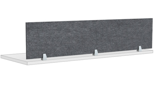 "Special-T PET Acoustic Screw-in Protection Screens for Worksurfaces and Cubicles, 14""H"