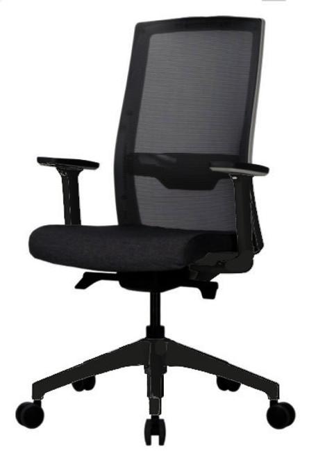 Duorest Q7 Black Frame Mesh Back Tasker, Black Frame with Black Seat