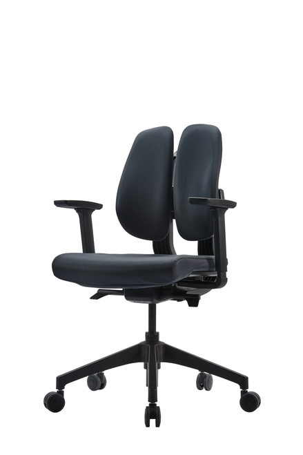 Duorest D2 Smart Dial Task Chair with black frame and upholstery
