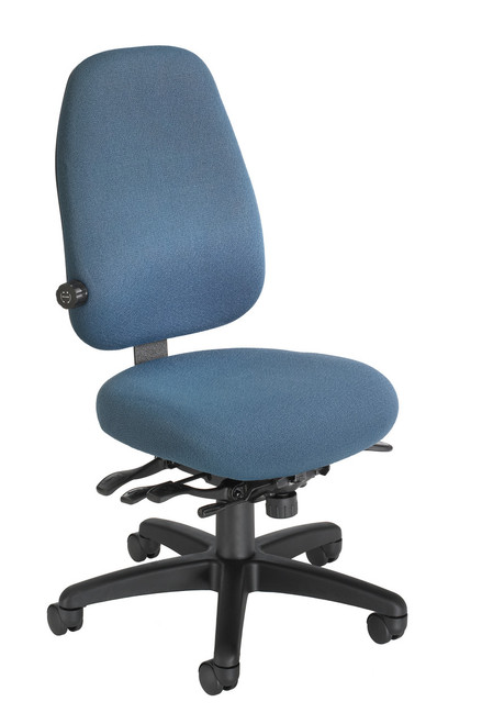 Petite High Back Tasker in Basic Blue /Actual Chair is Charcoal