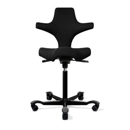 HAG Capisco H8106 Saddle Seat w/ Back in Black Seat Black Base