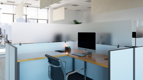 OBEX Cubicle and Desk Mount Acrylic Protection Screens