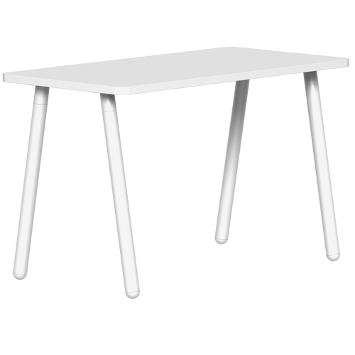 SitOnIt Reya Desk with Angled Metal Legs - Work From Home Series, White top and legs