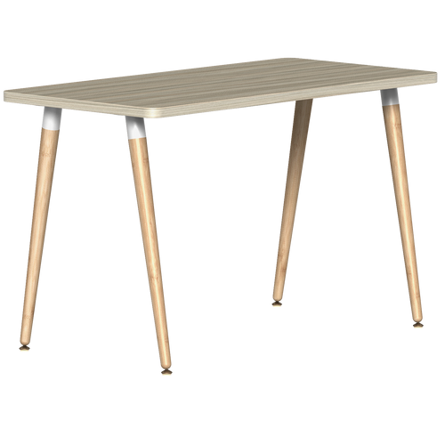SitOnIt Reya Desk with Bamboo Legs - Work From Home Series , Sandalwood top and tapered bamboo legs with white tops