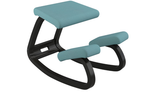 Varier balans Kneeling Chair Turquoise / Black Open Box