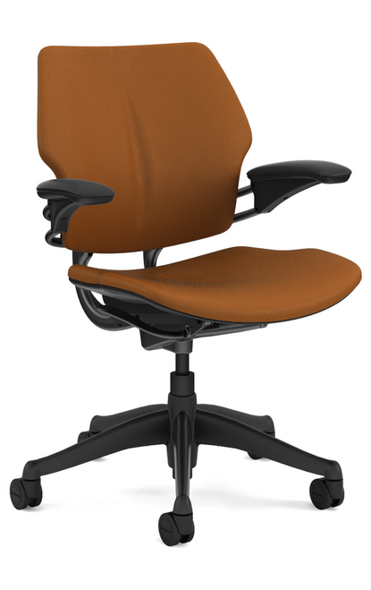 Humanscale Freedom Task Chair  with Graphite frame Promessa Bronze Ultraleather