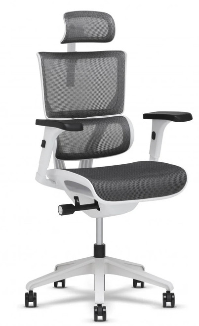 X Chair Xs-Vision Petite Flex Mesh Ergonomic Task, grey with white frame