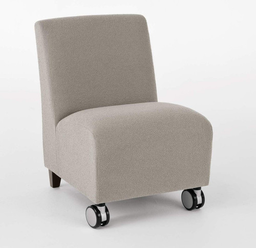 Siena Armless Guest Chair with Casters