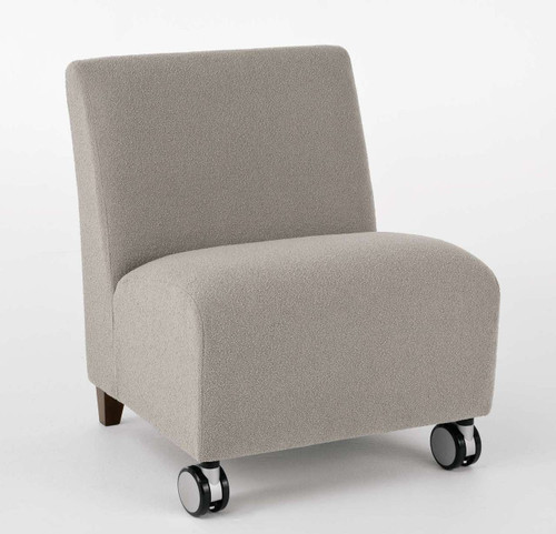 Siena Oversized Armless Guest Chair with Casters
