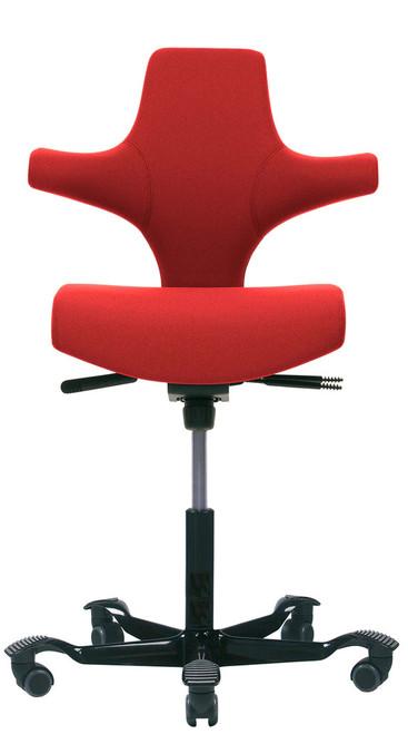 HAG Capisco H8126  Flat Seat Red w/ Black Foot-base