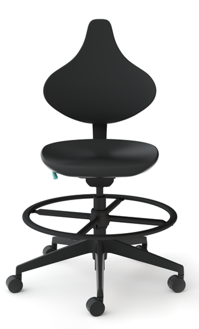 Cramer Helix Med Tech Lab Stool with optional footrest