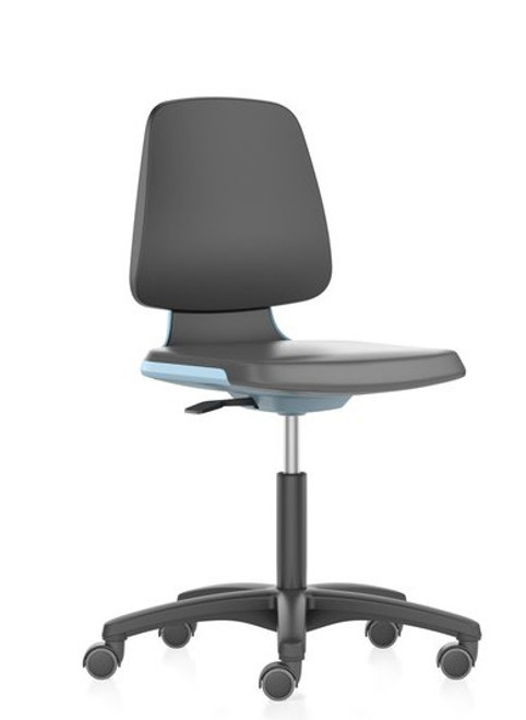 Cramer Citrus Med Tech Cleanroom Lab Chair, Sky Frame Accent