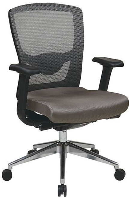 ProGrid® Mesh Back Executive Chair with Optional Headrest shown in Gray Fabric