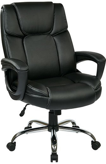 Leather Executive Big Mans Chair with Padded Loop Arms
