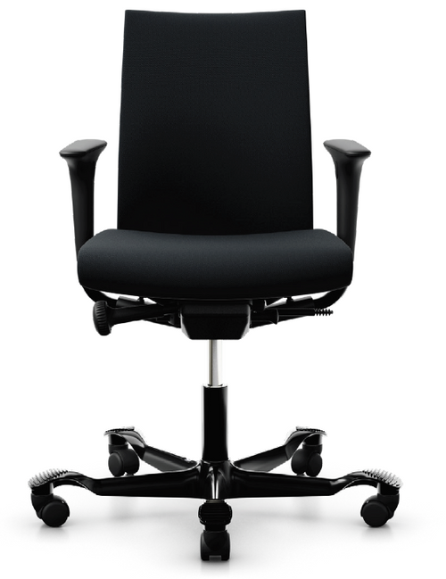 HAG Creed Quickship in Select Black Upholstery and black frame