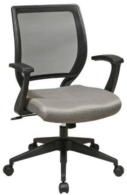 Woven Mesh Back Fabric Seat Task Chair in Gray Fabric
