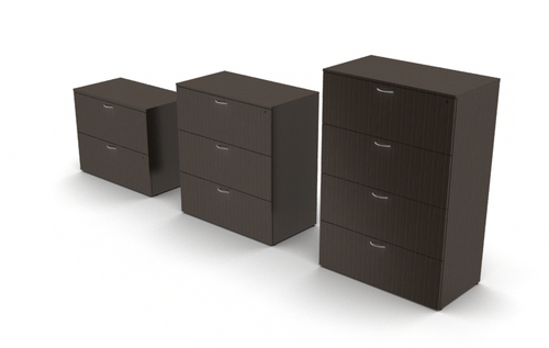 Mod Laminate Lateral Files - 2, 3 or 4 drawer