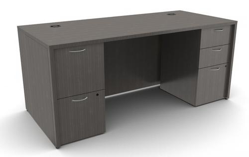 "Mod Laminate Desk with 2 Full Pedestals 66""W x 30""D x 29""H"