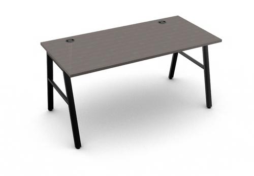 Mod Laminate A-Leg Work Table, Teak