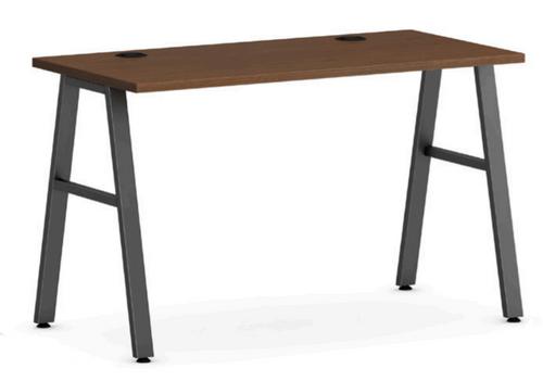 Mod Laminate A-Leg Work Table, Cherry