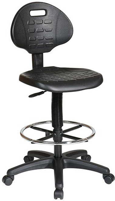 Self-Skinned Urethane Seat and Back Drafting Stool