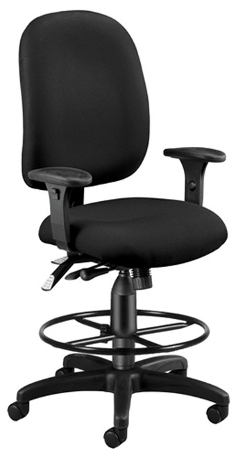 OFM ComfySeat Plus Stool in Black 805
