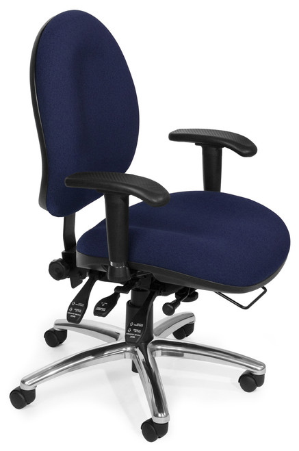 OFM 24/7 Big & Tall Computer Task Chair in Blue Fabric