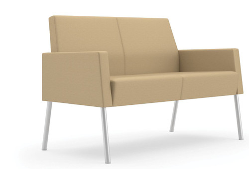 Mystic Lounge Panel Arm Loveseat