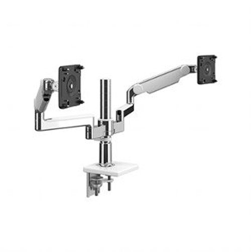 M/Flex with M2.1 Monitor Arm, Polished Aluminum with White Trim