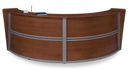 Marque Double Unit Reception Station in Cherry