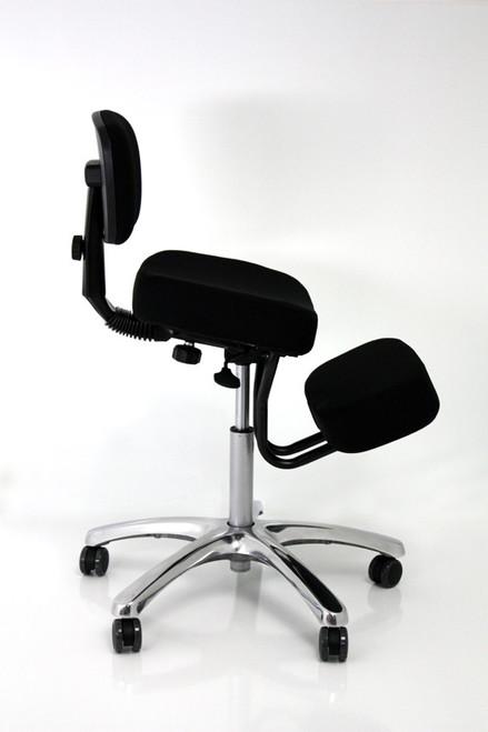 Jobri Jazzy Memory Foam Kneeling Chair in Black