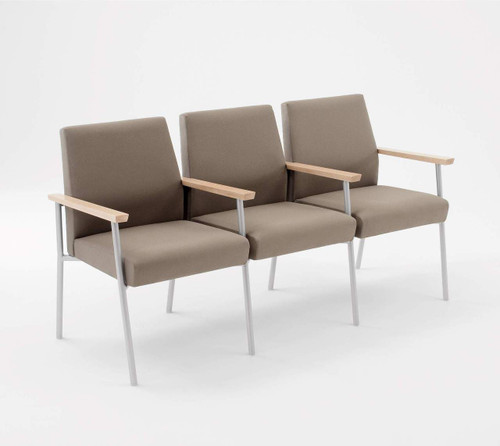 Lesro Mystic Guest/Reception Three Seat Sofa with Center Arms