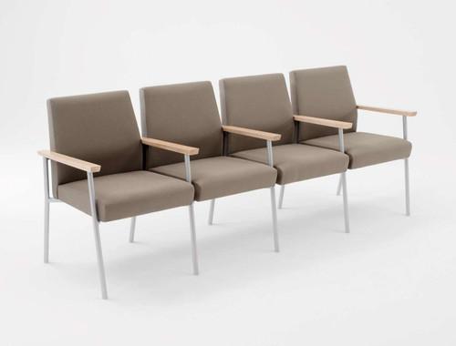 Lesro Mystic Guest/Reception Four Seat Sofa with Center Arms