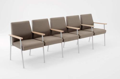 Lesro Mystic Guest/Reception Five Seat Sofa with Center Arms