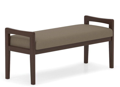 Lesro Weston Transitional Wood Two Seat Bench