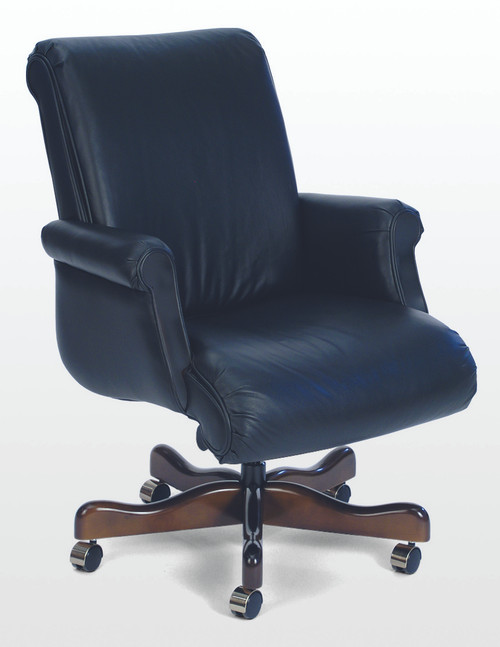 Belmont Traditional Mid Back Conference Chair in Classico Bright Navy