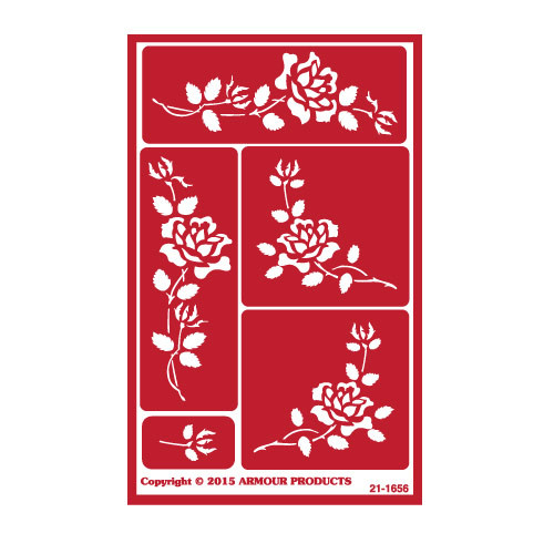 Roses Reusable Etching Stencil