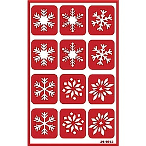 Snowflakes Reusable Etching Stencil