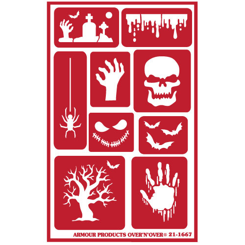 Halloween Reusable Etching Stencil