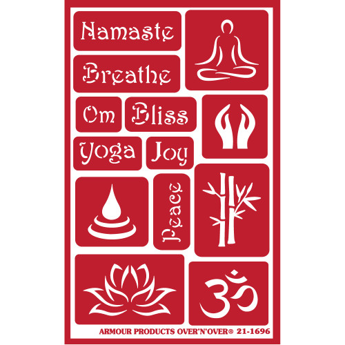 Namaste Reusable Etching Stencil