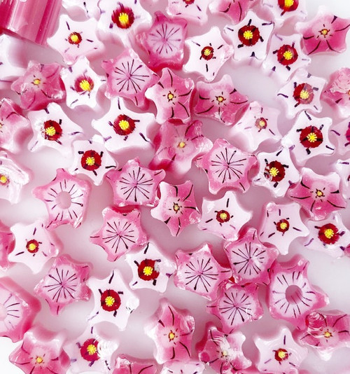 Pink & White Star Flowers