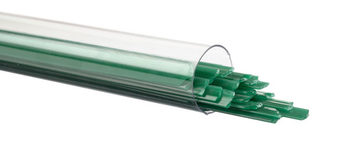 Jade Green Opalescent Ribbon, Fusible, by the Tube