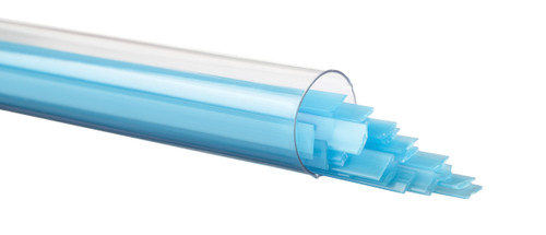 Light Cyan Opalescent Ribbon, Fusible, by the Tube