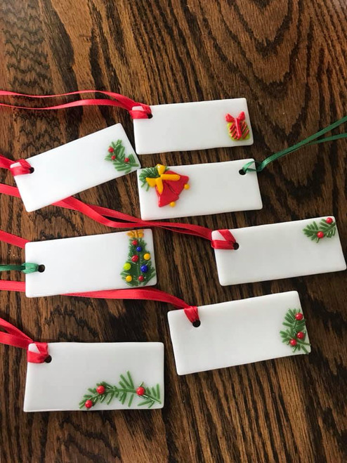 Fused Glass Gift Tags