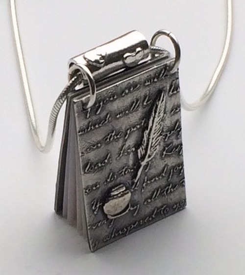 """9/10 Mini Book: a """"Novel"""" Project in Silver Clay"""