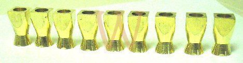 Candle Cup Set - Square Tall (Brass)
